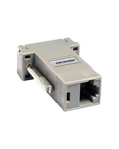 Raritan power control, RJ-45 (F) to DB9 (F) nulling serial adapter