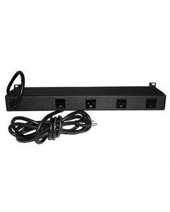 Chatsworth Power Strip, 1U, Basic, 20A, 120V, Horizontal, (8) 5-20R, Thermal Breaker, No Surge, 5-20P, 10ft Input Cord, Removable 19/23in Mounting Brackets