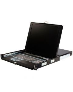 """StarTech 1U 17"""" Rackmount LCD Console with 16 Port IP KVM - Control 16 servers or KVM switches remotely over an IP network with this rack mountable LCD console - lcd kvm - kvm over ip - 16 port kvm over ip"""
