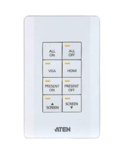 ATEN Control System - 8-button Keypad (US, 1 Gang)-TAA Compliant